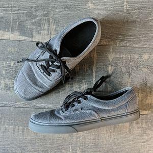 Vans Gray Lace Up Skater Shoe Sneaker BX194